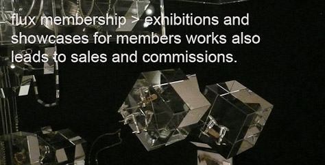 Flux jewellery exhibitions provide oportunities for members to showcase new work