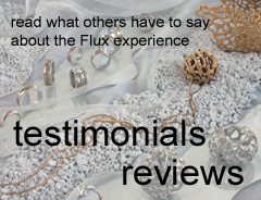 Flux studios offers short specialist classes and courses in jewellery making.
