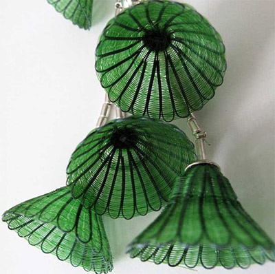 green bells necklace by Manuela Tromben