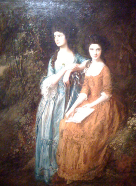 Dulwich Picture Gallery, The Linley Sisters by Thomas Gainsborough